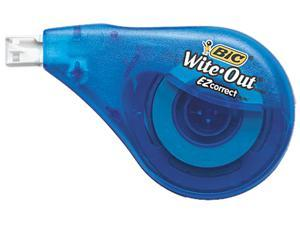 "BIC WOTAPP21 Wite-Out EZ Correct Correction Tape, Non-Refillable, 1/6"" x 472"", 2/Pack"