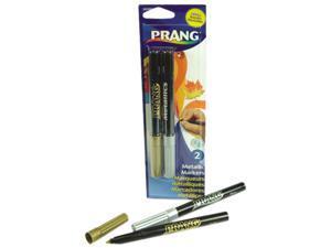 Dixon 80597 Prang Washable Markers, Bullet Tip, Gold/Silver, 2/Set