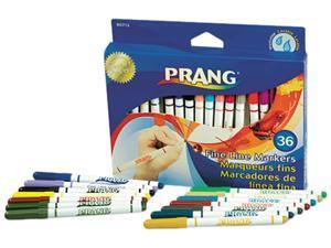 Dixon 80712 Prang Washable Markers, Fine Point, 36 Assorted Colors, 36/Set