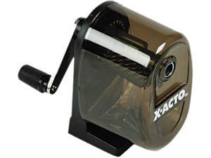 X-ACTO 1083 Manual Pencil Sharpener,Table-/Wall-Mount, Translucent Smoke/Black