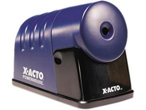 X-ACTO 1792 PowerHouse Desktop Electric Pencil Sharpener, Translucent Blue