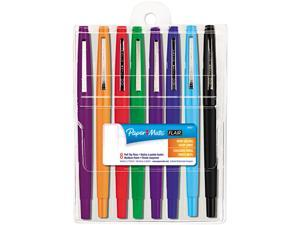 Paper Mate 89061 Point Guard Flair Porous Point Stick Pen, Assorted Ink, Medium, 8 per Pack