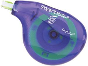 "Paper Mate Liquid Paper 6137406 DryLine Correction Tape, Non-Refillable, 1/5"" x 472"", 10/Pack"