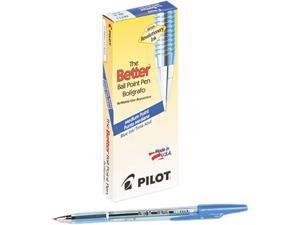 Pilot 36711 Better Ballpoint Stick Pen, Blue Ink, Medium, Dozen