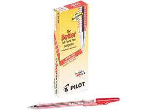 Pilot 37711 Better Ballpoint Stick Pen, Red Ink, Medium, Dozen