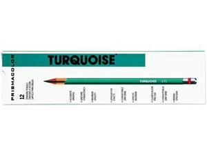 Prismacolor 2272 Turquoise Drawing Pencil, 6B, 1.98 mm, Dozen