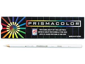Prismacolor 3365 Premier Colored Pencil, White Lead/Barrel, Dozen