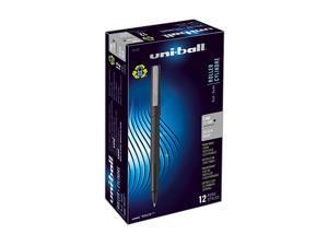 uni-ball 60101 Roller Ball Stick Dye-Based Pen Black Ink, Fine, Dozen