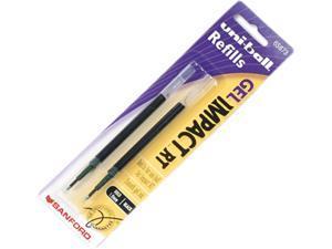 uni-ball 65873PP Refill for uni-ball Gel IMPACT RT Roller Ball Pens, Bold, Black, 2/Pack