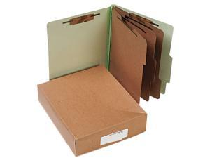 Acco 15048 Pressboard 25-Pt. Classification Folder, Letter, 8-Section, Leaf Green, 10/Box