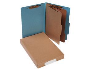 Acco 16026 Pressboard 25-Pt. Classification Folders, Legal, Six-Section, Sky Blue, 10/Box