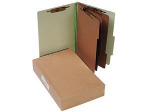Acco 16048 Pressboard 25-Pt. Classification Folders, Legal, 8-Section, Leaf Green, 10/Box