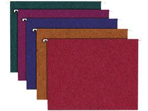 Ampad                                    Envirotec Recycled Colored Hanging File Folders, Letter, Assorted, 20/Box