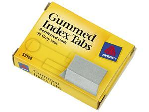 Avery 59106 Gummed Index Tabs, 1 x 13/16, Gray, 50/Pack