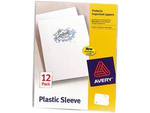 Avery                                    Plastic Sleeves, Letter, Polypropylene, Clear, 12/Pack
