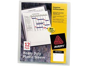 Avery 72611 Heavy-Duty Plastic Sleeves, Letter, Polypropylene, Clear, 12/Pack
