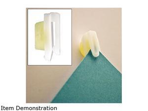 Advantus 01220 StikkiCLIPS, Plastic, White, 20/Pack