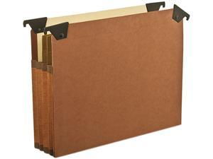 Pendaflex 45422 3 1/2 Inch Expansion Swing Hook Hanging File Pockets, Manila, Letter, Red, 5/Box