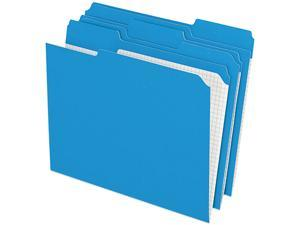 Pendaflex R15213BLU Two-Ply Reinforced File Folders, 1/3 Cut Top Tab, Letter, Blue, 100/Box