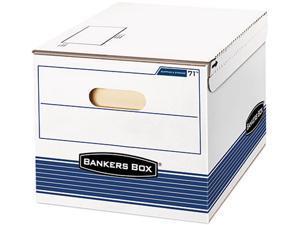 Bankers Box 0007101 Stor/File Storage Box, Letter/Lgl, 12w x 15d x 10h, White/Blue, 12/Carton