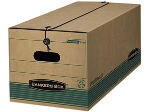 Bankers Box 00774 Stor/File Extra Strength Storage Box, Legal, String/Button, Kraft/Green, 12/Ctn