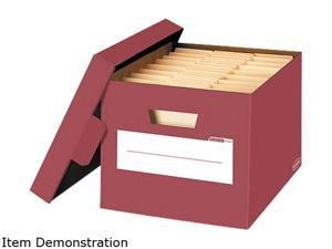 Bankers Box 6140402 Stor/File Decorative Storage Box, Letter/Legal, Red, 4/Carton
