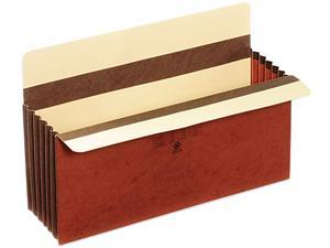 Globe-Weis C1536GHD 5 1/4 Inch Expansion Accordion Pocket, Straight Cut, Redrope, Legal, 10/Box