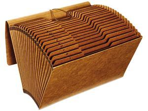 Globe-Weis R119ALHD Accordion Files with Flap, 21 Pockets, 1/3 Tab, Letha Tone, Legal, Brown