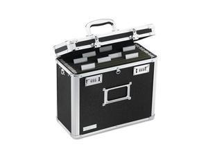 IdeaStream™                              Locking File Tote Storage Box, Letter, 13-3/4 x 7-1/4 x 12-1/4, Black