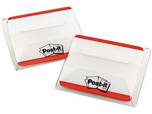 Post-it                                  Durable File Tabs, 2 x 1 1/2, Striped, Red, 50/Pack