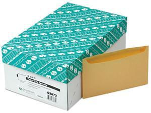 "Quality Park 63872 Paper File Jackets, 5"" x 8 1/8"", 2 Point Tag, Buff, 500/Box"