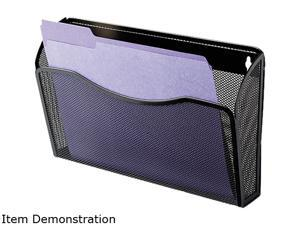 Rolodex 21931 Single Pocket Wire Mesh Wall File, Letter, Black
