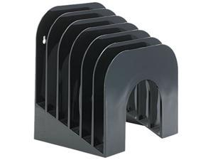 Rubbermaid 96601ROS Six-Tier Jumbo Incline Sorter, Plastic, 9 3/8 x 10 1/2 x 7 3/8, Black
