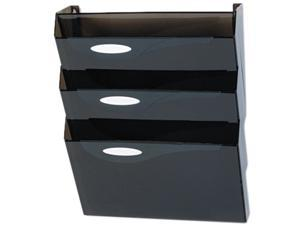 Rubbermaid                               Classic Hot File Wall File Systems, Letter, Three Pocket, Smoke