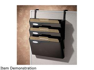 Rubbermaid                               Classic 4 Pocket Hanger Set for Partitions, Legal/Printout, Smoke