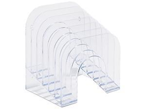 Rubbermaid 96600ROS Six-Tier Jumbo Incline Sorter, Plastic, 9 3/8 x 10 1/2 x 7 3/8, Clear