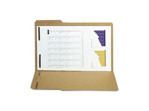 S J Paper S12561 Reinforced Kraft Folder, Two Fasteners, 1/3 Cut Top Tab, Legal, Brown, 50/Box