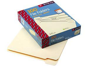Smead 10350 File Folders, 1/5 Cut, One-Ply Top Tab, Letter, Manila, 100/Box