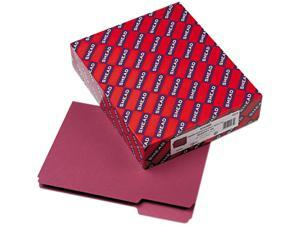 Smead 10275 Interior File Folders, 1/3 Cut Top Tab, Letter, Maroon, 100/Box