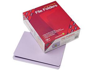 Smead 12410 File Folders, Straight Cut, Reinforced Top Tab, Letter, Lavender, 100/Box