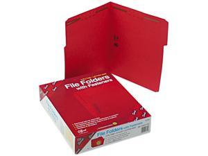 Smead 12740 Folders, Two Fasteners, 1/3 Cut Assorted, Top Tab, Letter, Red, 50/Box
