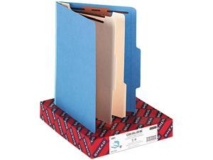 Smead 14001 Top Tab Classification Folders, Two Dividers, Six-Sections, Blue, 10/Box