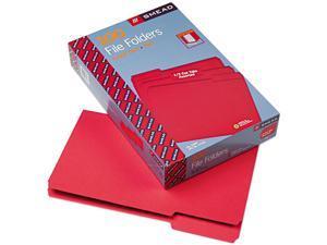 Smead 17743 File Folders, 1/3 Cut Top Tab, Legal, Red, 100/Box