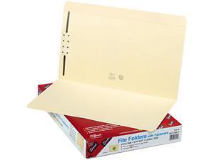 Smead 19510 Folders, One Fastener, Straight Cut, Top Tab, Legal, Manila, 50/Box