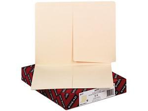 Smead 24117 Folders, Front/Back Interior Pockets, Straight End Tab, Letter, Manila, 25/Box