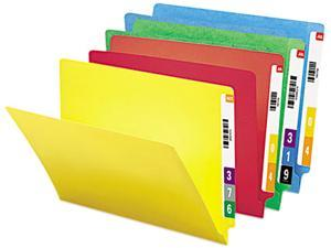 Smead 25013 Colored File Folders, Straight Cut Reinforced End Tab, Letter, Assorted, 100/Box