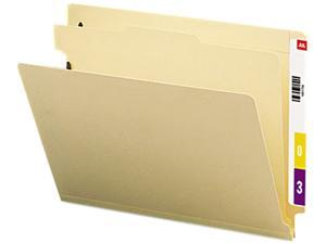 Smead 26825 Manila End Tab Classification Folders, Letter, Four-Section, 10/Box