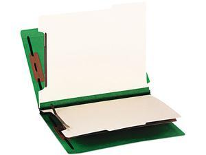 Smead 26837 Colored End Tab Classification Folders, Letter, Six-Section, Green, 10/Box