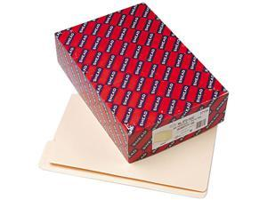 Smead 27134 Folders, 1/3 Cut Assorted, Reinforced End Tab, Legal, Manila, 100/Box