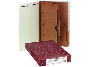 Smead 29710 Pressboard End Tab Classification Folders, Pockets, Legal, Six-Section, 10/Box